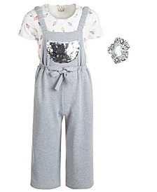 Big Girls 3-Pc. Top, Flip Sequin Jumpsuit & Sequin Scrunchie Set