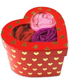 Women's 3-Pk. One-Size Low-Rise Thongs In Heart Box 49RGHT3PK