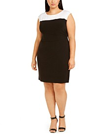 Plus Size Colorblocked Sheath Dress