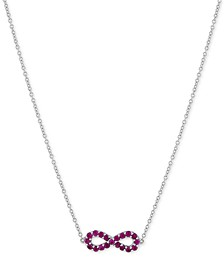 "Ruby Infinity 18"" Pendant Necklace (1/2 ct. t.w.) in Sterling Silver"