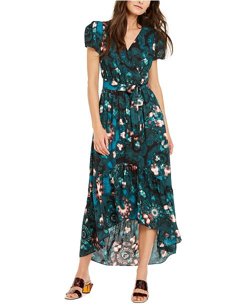 INC International Concepts INC Puff-Sleeve High-Low Dress, Created For Macy's