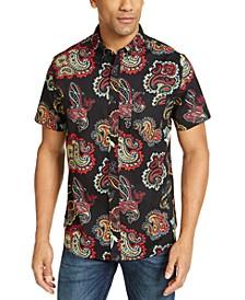 Men's Button-Down Paisley Shirt