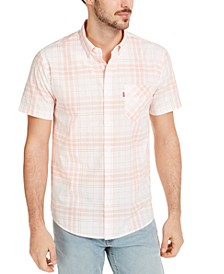 Men's Button-Down Plaid Shirt
