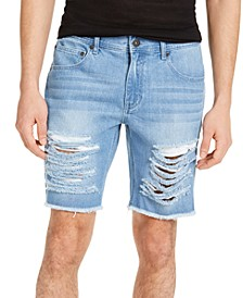 INC Men's Ripped Denim Shorts, Created for Macy's