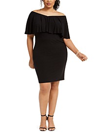 Plus Size Popover Sheath Dress