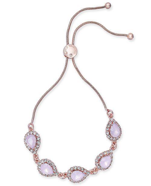 Charter Club Crystal & Stone Slider Bracelet, Created for Macy's