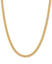 "Curb Link 22"" Chain Necklace in 18k Gold-Plated Sterling Silver"