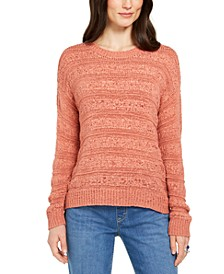 Petite Tape-Yarn Pullover Sweater, Created For Macy's