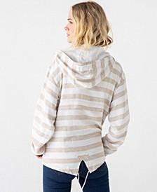 Thread Supply Striped Windbreaker Pullover