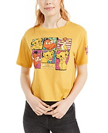 Juniors' Lion King Cropped Graphic T-Shirt by Love Tribe