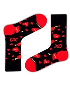 Women's Organic Cotton Socks with Xoxo Design