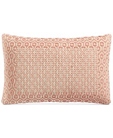 "Jacquard Tile Frame 16"" x 24"" Decorative Pillow, Created For Macy's"