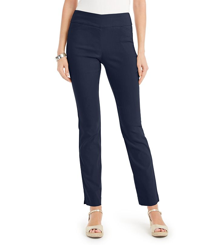 Charter Club Petite Tummy-Control Pants, Created for Macy's