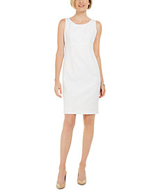 Kasper Textured Leaf Jacquard Embroidered Dress