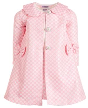 Blueberi Boulevard Little Girls 2-Pc. Polka-Dot Jacket & Dress Set