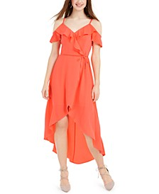 Juniors' Ruffled High-Low Dress