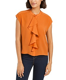 Elna Light Ruffled Button-Front Top