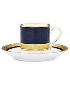 Odessa Cobalt Gold After Dinner Cup & Saucer