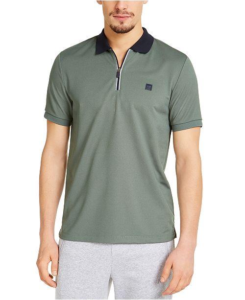 Michael Kors Men's Kors X Tech Moisture-Wicking 1/4-Zip Polo Shirt