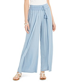 Textured Tie-Waist Wide-Leg Pants, Created for Macy's