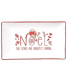 Holiday Greetings Rectangular Platter