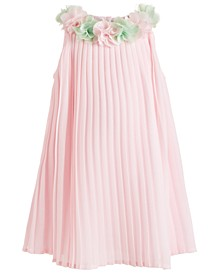 Baby Girls Pleated Chiffon Dress
