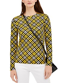 Plaid Long-Sleeve Top