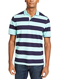 Men's Performance Stretch Striped Polo Shirt, Created for Macy's