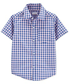 Toddler Boys Plaid Cotton Shirt