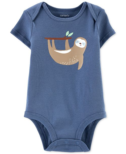 Carter's Baby Boys Sloth Cotton Bodysuit