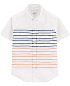 Toddler Boys Striped Cotton Shirt