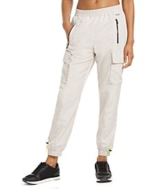 Mesh-Trimmed Cargo Pants