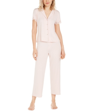Josie LACE-TRIM JERSEY KNIT PAJAMA SET