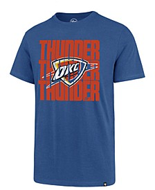 Men's Oklahoma City Thunder Triple Stack Repeat Super Rival T-Shirt
