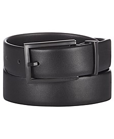 Men's Bevel-Edge Leather Belt