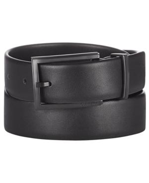 Calvin Klein Men's Bevel-Edge Leather Belt