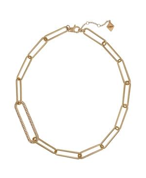 Gold Tone Long Link Short Necklace