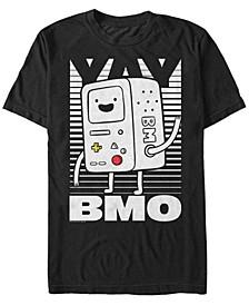 Men's Adventure Time BMO Wave Yay Halftone Fade Short Sleeve T- shirt