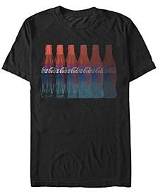 Men's Bottle Repeating Fade Short Sleeve T- shirt