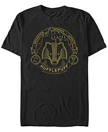 Harry Potter Men's Hogwarts House Animals Mystic Wash Shield Short Sleeve T-Shirt
