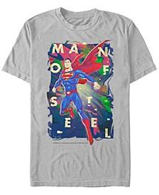 DC Men's Superman Man of Steel Poster Short Sleeve T-Shirt