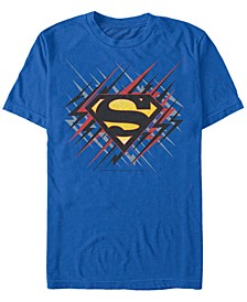 DC Men's Superman Lightning Bolt Logo Short Sleeve T-Shirt