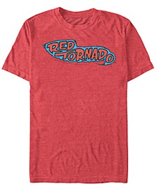 DC Men's Red Tornado Classic Logo Short Sleeve T-Shirt