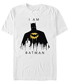 DC Men's I Am Batman City Silhouette Short Sleeve T-Shirt