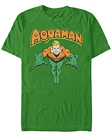 DC Men's Aquaman Dive Short Sleeve T-Shirt