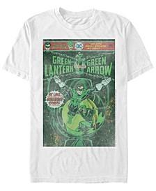 Dc Men's Green Lantern Starring Green Arrow Comic Cover Short Sleeve T-Shirt