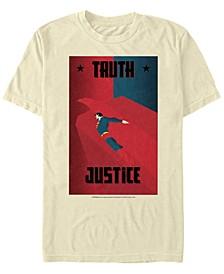 DC Men's Superman Eagle Truth Justice Poster Short Sleeve T-Shirt