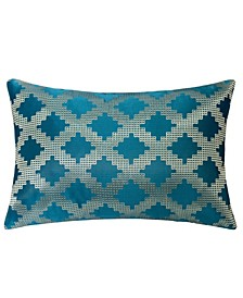 Ellie Satin Jacquard Throw Pillow