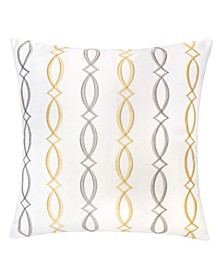 Rylee Embroidery Square Decorative Throw Pillow