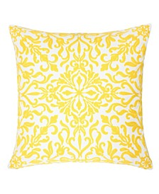 Victoria Cotton Square Decorative Throw Pillow